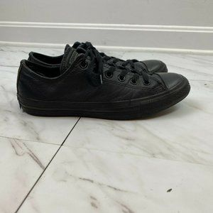 Converse Mens Leather Black Sneaker Shoes Size 7